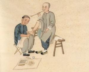 Lithographie chinoise réflexologie plantaire